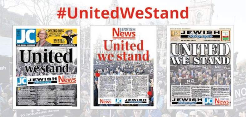 United we stand 'Jewish newsapers'