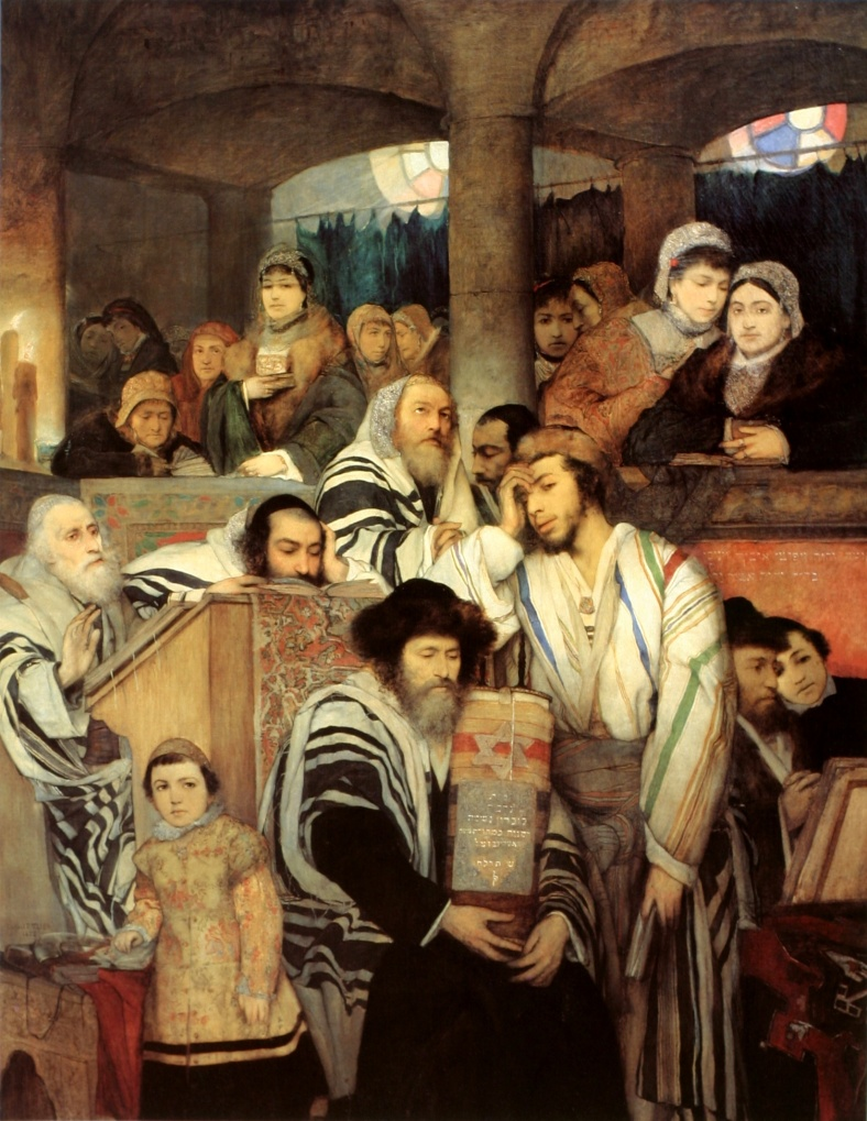 Yom Kippur Maurycy_Gottlieb_-_Jews_Praying_in_the_Synagogue_on_Yom_Kippur